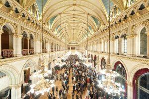 Festsaal des Wiener Rathauses bei der AWC Gala 2017