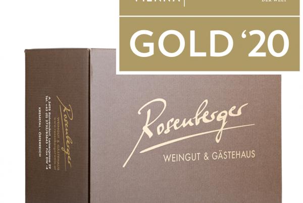 AWC Goldpaket, Weinkarton und AWC Auszeichnung