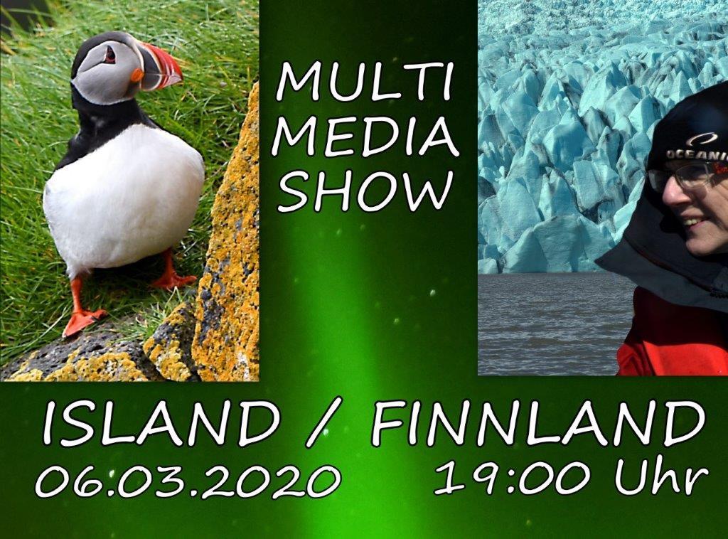 Multimedia-Show: Island und Finnland am 6. März 2020